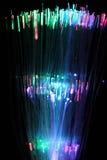 纤维光学网络缆绳五颜六色的背景  免版税库存图片