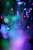 纤维光学网络缆绳五颜六色的背景  库存照片