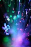 纤维光学网络缆绳五颜六色的背景  免版税图库摄影