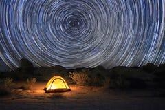 约书亚树国家公园星足迹 库存图片