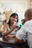 约会人餐馆妇女 免版税库存照片