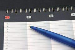 约会记事本铅笔 库存图片