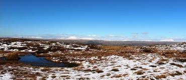 约克夏三个峰顶雪的在冬天 免版税图库摄影