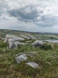 约克夏叶绿泥石停泊与被暴露的岩石 库存图片