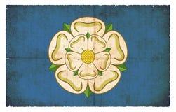 约克夏大英国难看的东西旗子  库存照片