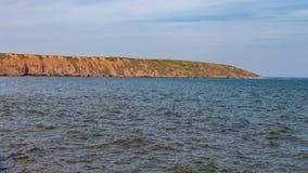 约克夏海岸在Filey,英国 免版税库存图片