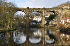 约克夏高架桥knaresborough英国 免版税库存图片