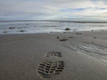 约克夏,英国,罗宾汉` s海湾-脚印刷品 图库摄影
