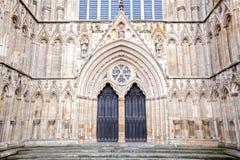 约克大教堂英国英国 库存照片