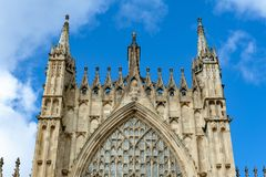 约克大教堂,在英国哥特式样式建造的历史的大教堂外部大厦位于市约克,英国,英国 图库摄影