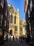 约克大教堂,游人,平衡阳光,英国 免版税图库摄影