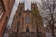 约克大教堂,约克夏,英国 库存图片