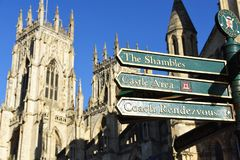 约克大教堂,英国看法  免版税库存照片