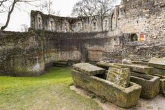 约克,英国- 3月30日: Multangular的废墟耸立,最后su 免版税图库摄影