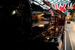 约克,英国- 02/08/2018 :LMS蒸汽疯子的边 图库摄影