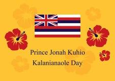 约拿书Kuhio Kalanianaole Day王子传染媒介 库存照片