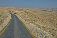 约旦河西岸-伯利恒省-向Sa的圣洁拉夫拉的路 图库摄影