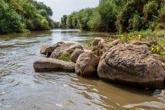 约旦河 库存图片