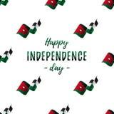 约旦独立日庆祝横幅或海报  与挥动的旗子的无缝的样式 乔丹标志 也corel凹道例证向量 皇族释放例证