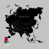 约旦的疆土亚洲大陆的 标志乔丹 也corel凹道例证向量 皇族释放例证