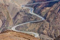 约旦的desrtic乡下 库存照片