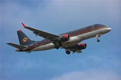 约旦皇家航空巴西航空工业公司ERJ170-200LR 库存照片