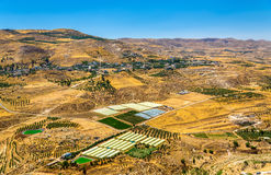 约旦风景如被看见从AlKarak 图库摄影