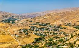 约旦风景如被看见从AlKarak 库存图片