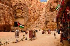 约旦, Petra,纪念品销售  库存图片