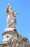 约瑟夫圣徒雕象视图 免版税库存图片