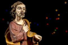 约瑟夫圣徒 诞生场面形象 圣诞节传统 库存照片
