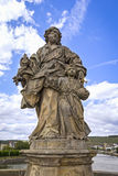 约瑟夫斯的圣徒巴洛克式的雕象  库存图片