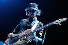 约瑟芬Wiggs,交配动物者的低音演奏员结合,执行在海涅肯Primavera声音2013年节日 免版税图库摄影