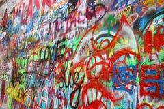 约翰・列侬墙壁在布拉格捷克 免版税图库摄影