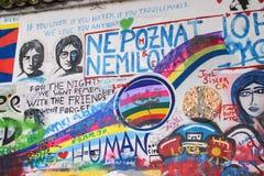 约翰・列侬墙壁在布拉格捷克 库存照片