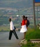 约翰内斯堡,南非- 2008年12月16日:陌生人,两我 库存照片