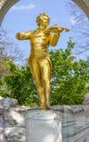 约翰史特劳斯雕象在维也纳 库存图片