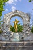 约翰史特劳斯雕象在维也纳 图库摄影