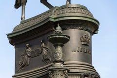 约翰国王雕象,萨克森纪念碑的约翰在德累斯顿,德国 库存图片