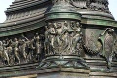 约翰国王雕象,萨克森纪念碑的约翰在德累斯顿,德国 图库摄影