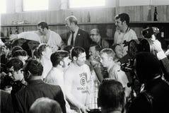 约翰尼Bucyk, 1970年史丹利杯冠军 免版税库存图片