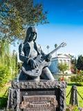 约翰尼Ramone雕象在永远好莱坞公墓 图库摄影