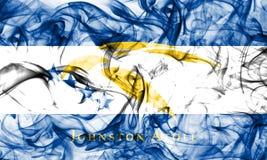约翰斯顿环礁烟旗子,美国依赖疆土旗子 免版税图库摄影