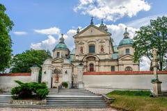 约翰浸礼会教友, Poswietne,波兰修道院  免版税图库摄影