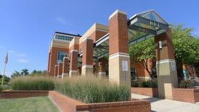 约翰逊城-公立图书馆 免版税库存图片