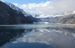 约翰霍普金斯冰川,冰河海湾国家公园,阿拉斯加 免版税库存图片
