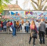 约翰・列侬墙壁在布拉格 免版税图库摄影
