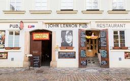 约翰・列侬客栈在布拉格 免版税图库摄影