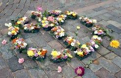 约翰・列侬第75周年里加节日坛场  免版税库存照片