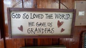 约翰3:16和祖父 库存照片